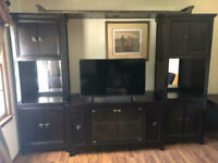 5 piece Ashley Furniture Television Entertainment System Brown - Free Delivery!