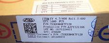 QTY (1000)  4.7uf 400V 105' 8x11 RADIAL ELECTROLYTIC TYB2GM4R7F12B LTEC ROHS
