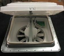 "HENG'S VORTEX II 2 RV CAMPER TRAILER ROOF VENT 14""X14"" 12V FAN WHITE 71112V2-C"
