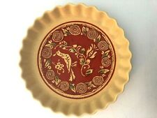 Georges Briard Pie Dish American Folk Art Dove & Berry Tree Quiche Tart Fluted