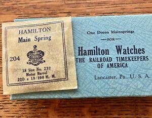 NOS authentic Hamilton mainspring 18s motor barrel pocket watch 18 size No. 232