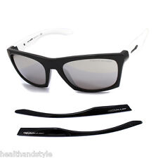 Arnette AN4169-07 2088/6G Dibs Gloss Black White/Chrome Mirror Unisex Sunglasses