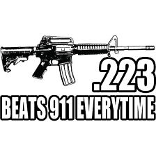 .223 Caliber Semi Auto Assault Rifle Ar15 M16 Ak47 Military Pro Guns Vinyl Decal