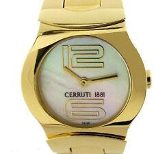 CERRUTI LADIES C EMOZIONE SWISS GOLD TONE WATCH NEW MOP CT61222X415022 GT