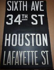 1940's Vintage New York City Subway R1 R9 Front Destination Rollsign SIXTH AVE
