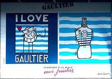 ANDRE SARAIVA - Mr A - JEAN-PAUL GAULTIER - AFFICHE ORIGINALE GEANTE - 4 X 3 M.