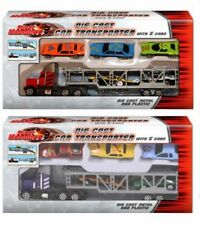 Street Machines Diecast Car Transporter Truck Lorry With 5 Cars In Box Kids Toy