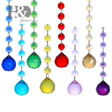 Set 8 Crystal Rainbow Suncatcher Ball Prism Hanging Fengshui Window Pendant 30mm