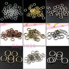 4mm,5mm,6mm,7mm,8mm,12mm,20mm Open Jump Rings Connectors 7Colors-1 R5017