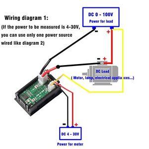 DC 100V 10A Voltmeter Ammeter Dual Color Display Amp Digital Volt Meter Gauge uk