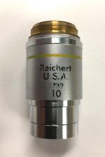 Reichert Plan Achro 10x / 0.25 Microscope Objective Lens