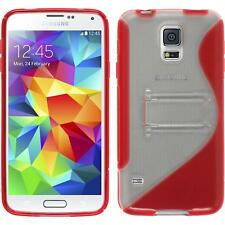 Silicone Case for Samsung Galaxy S5  red + protective foils