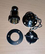 ECS 2304 Waterproof Brass Plug & Socket 4 Pin 12v/24v 3A Marine Caravan Deck