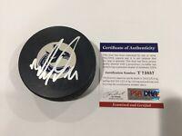 Mason Raymond Signed Autographed Vancouver Canucks Hockey Puck PSA DNA COA a