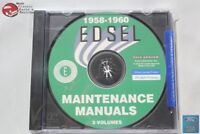 1958-60 Ford Edsel Mainenance Manuals 3 Volumes Ranger Pacer Corsair CD Rom Disc