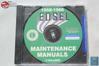1958-60 Ford Edsel Mainenance Manuals 3 Volumes Ranger Pacer Corsair CD Rom Disc