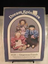 Dream Spinners Gingersnap Friends #119 Doll Pattern, never used 1985
