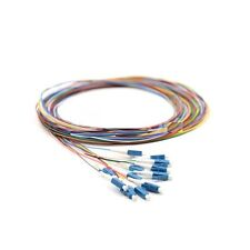 1M 12 Fibers LC/UPC Single-Mode Color-Coded Fiber Optic Pigtail,Unjacketed -9430