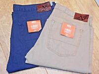 LEVI DOCKERS MENS PACIFIC COLLECTION WASHED 5 POCKET STRAIGHT FIT MANY SIZES