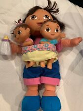 Dora The Explorer Big Sister Doll Fisher Price, Brother, Baby Twins Mattel