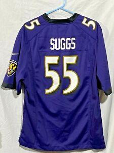 Nike On Field Baltimore Ravens #55 Suggs NFL Jersey Men's Size Medium Purple