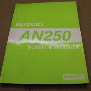 MANUEL REVUE TECHNIQUE D ATELIER SUZUKI AN 250 BURGMAN 1997-> AN250 ENTRETIEN