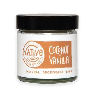 Native Unearthed Natural Deodorant Coconut and Vanilla Balm 60ml