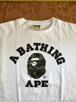 Authentic BAPE Big Head Ape A Bathing Ape T-Shirt Size Medium M