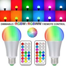 10W E27 RGBW WW Color Changing Smart LED Bulbs Wall IR+Remote Flash Light Lamp