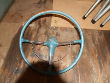 1955 1956 Chevy Belair Steering Wheel Horn Ring Amp Horn Cap Button Vintage Oem