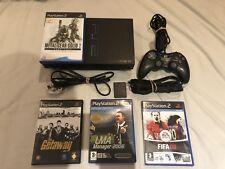Sony PlayStation 2 Black Console Ps2 Bundle