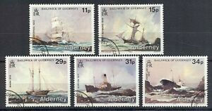 ALDERNEY 1987 SHIPWRECKS SET (5) VFU (ID:303/D30665)