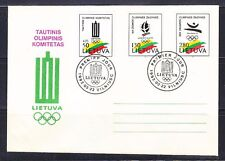 Lithuania 1992 FDC cover Olympic Games Albertville & Barcelona Mi 496-498 LUXUS