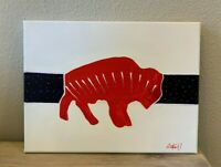 American Buffalo Painting Limited Series Hand Painted Canvas 9X12 #1 of 10