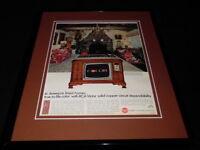 1966 RCA Victor TV Framed 11x14 ORIGINAL Vintage Advertisement