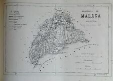 MÁLAGA, MAPA ORIGINAL, 1867