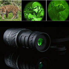 Day/Night Vision 40x60 Zoom HD Optical Monocular Hunting Camping Mini Telescope
