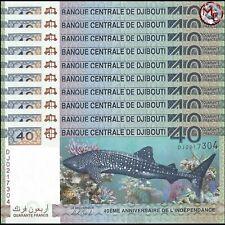 Djibouti - 40 Francs 2017 - Pick- NEW - Set 10 PCS - UNC