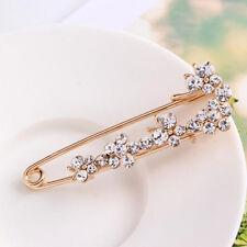 Fashion Women Bridal Rhinestone Crystal Safety Pin Wedding Party Brooches Gift