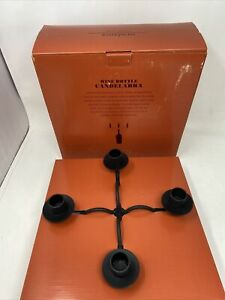 NEW IN BOX Wine Bottle Topper Candelabra 4 Candle Holder ~ Sundance Catalog.