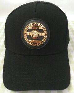 NWT Versace Baseball Hat Black Golf Outdoor Cap Unisex