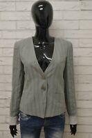 Giacca EMPORIO ARMANI Donna Taglia Size S Maglia Blazer Jacket Woman Righe Lino