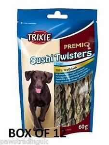PREMIO Sushi Twisters x 12 Dried Fish Skin Twist Twister Dog Treat Pup FREE POST