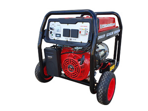 Portable Petrol Generator 6.5kVA 240V in Open Frame with Wheels kit