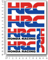 HRC Honda decal set 4.7x6.3 in. sheet 5 stickers laminate cbr 600 1000 rr racing