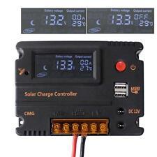 20A Solar Laderegler Solarregler 12V/24V Solar Panel Ladegerät Controller USB KS