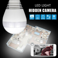 NEW 360° Panoramic 1080P Hidden IR Camera Light Bulb Wifi FishEye Security CCTV
