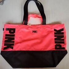 Victoria's Secret PINK Logo Double Straps Coral Pink Tote Bag Beach Bag