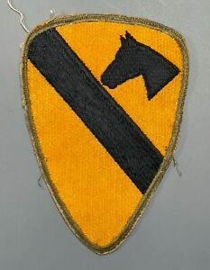 WWII US Army OD Border 1st Cavalry Division Patch Cut Edges No Glow
