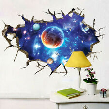 Removable Magic 3D Galaxy Space Wallpaper Wall Stickers Decal Home Room Decor US
